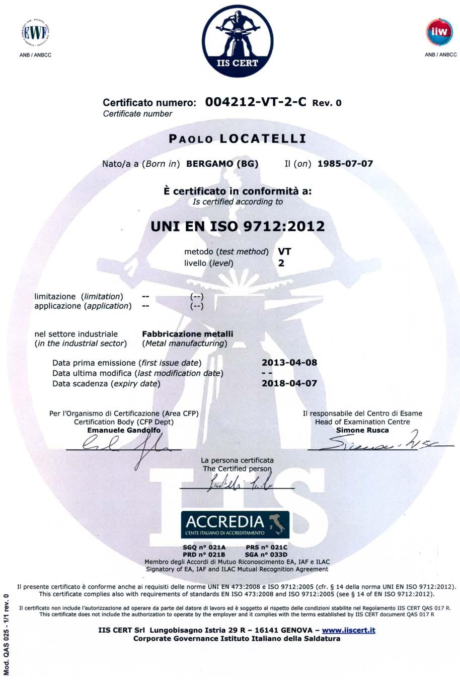 Controlli non distruttivi (CND) | Carpenteria Locatelli Bergamo