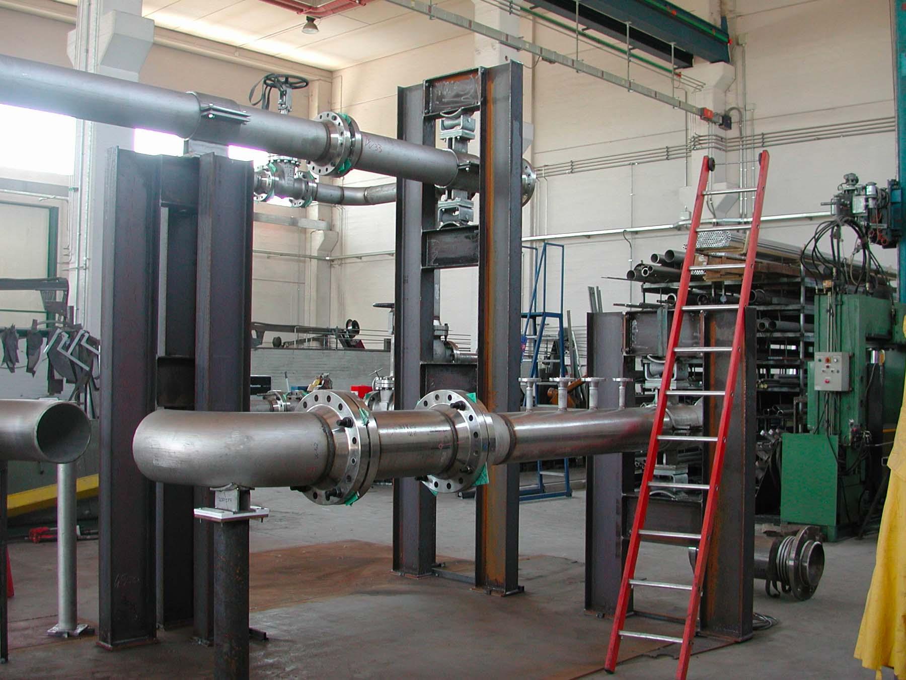 Gruppo turbina-compressore – Tubazioni | Carpenteria Locatelli Bergamo