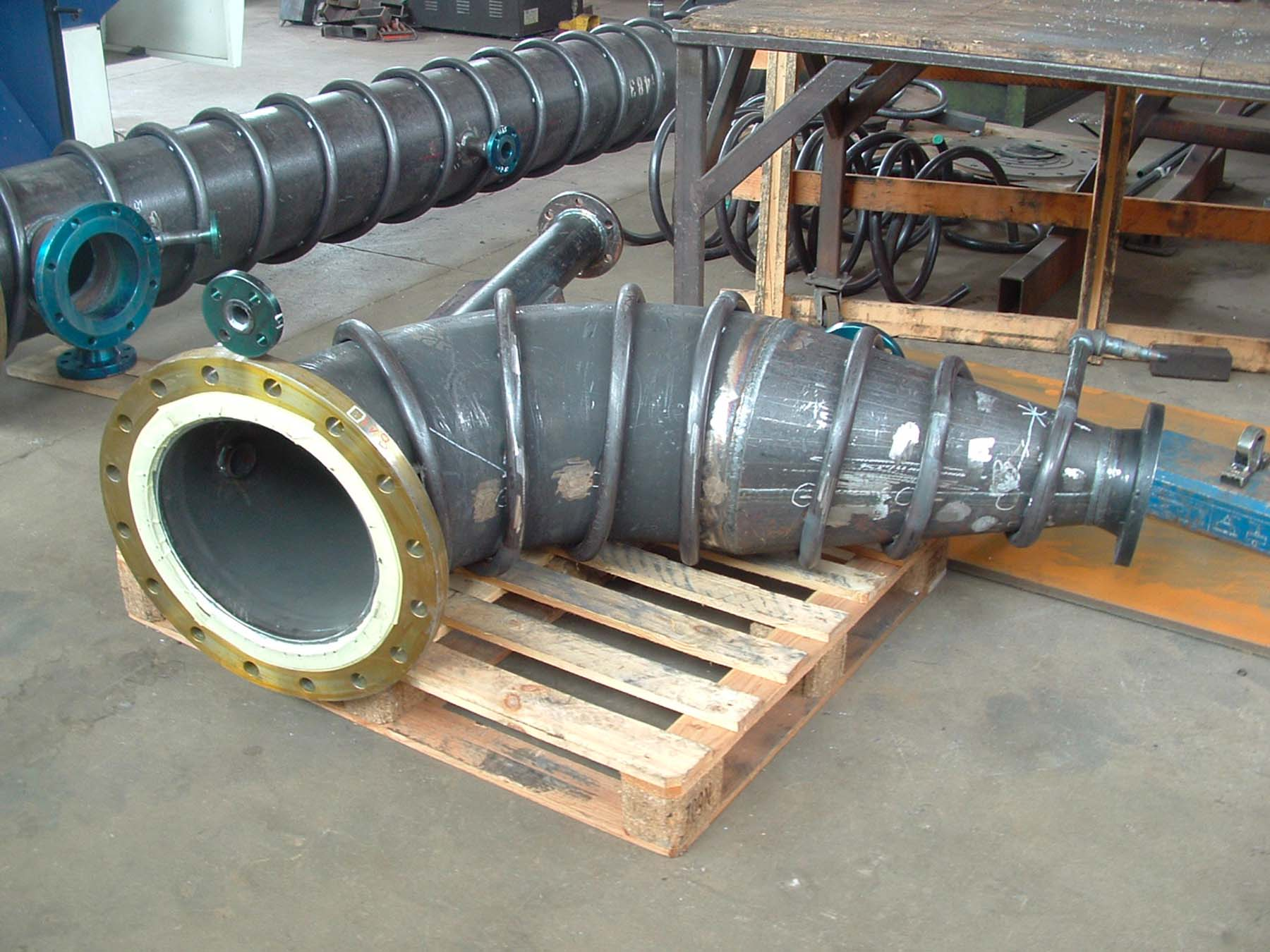 Tubazione serpentina vapore | Carpenteria Locatelli Bergamo