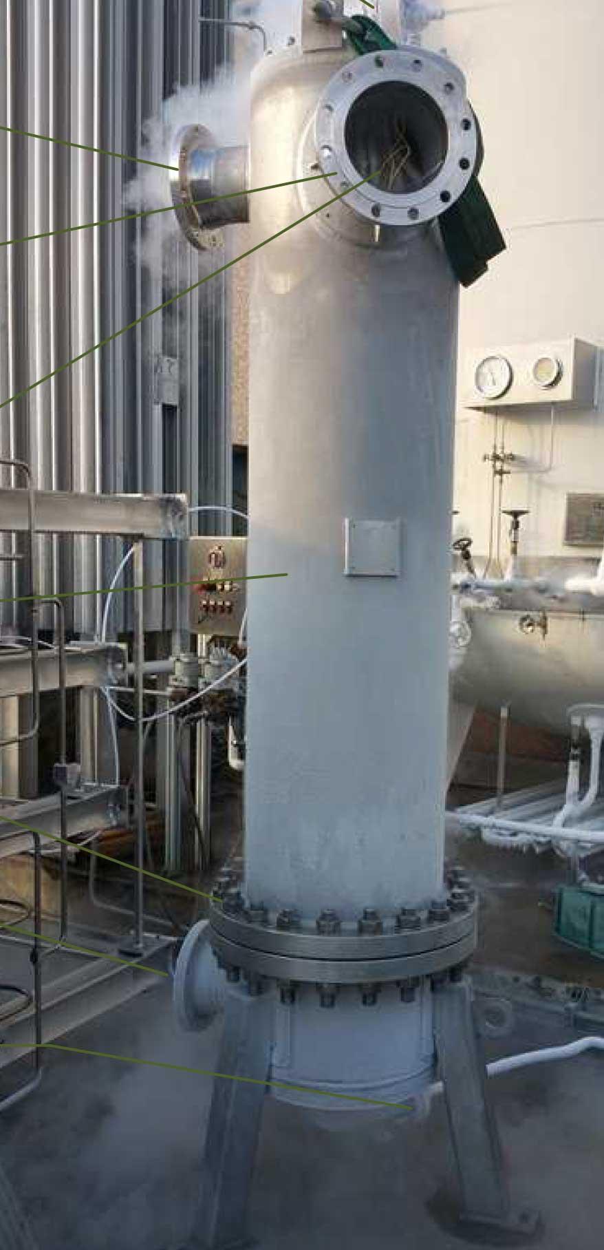 Scambiatore criogenico per metano ad alta pressione | Carpenteria Locatelli Bergamo